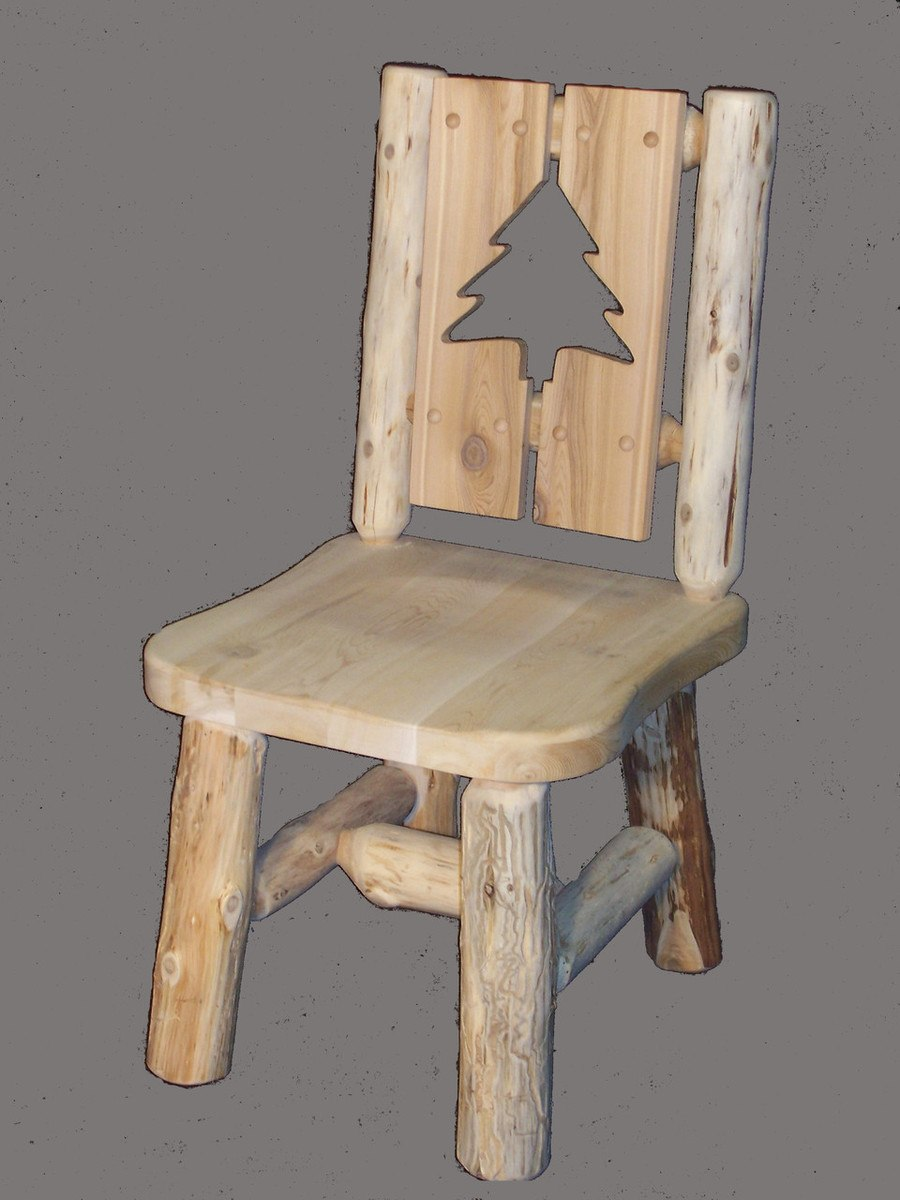 Hand Peeled Cedar Log Chairs   Multiple Options